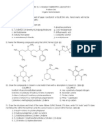 Org chem nomenclature probset