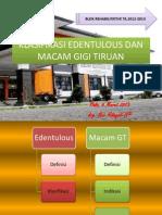l2 Klasifikasi Edentulous Dan Macam Gigi Tiruan
