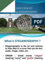 High Capacity Image Steganography