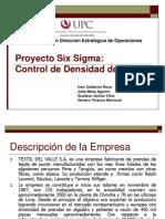 Six Sigma Control de Densidad de Tela
