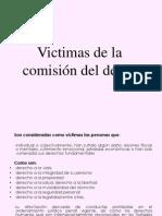 Victimas de la comisión del delito