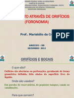 AULA 2 ESCOAMENTO ATRAVÉS DE ORIFÍCIOS UFERSA 20122 (Maristélio-PC's conflicted copy 2012-12-12)