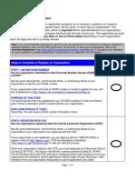Organization Steps Complete Registration