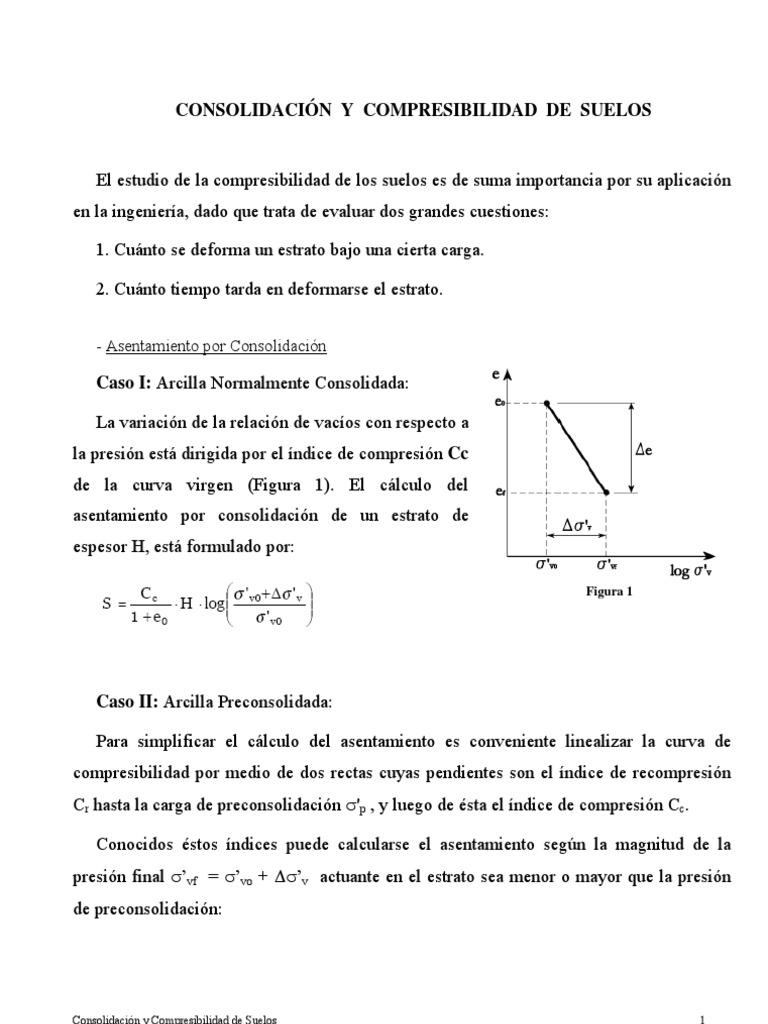 Clase consolidaci n y compresibilidad de suelos for Consolidacion de suelos
