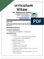Tabassum CV