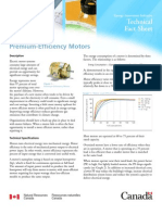 Prism Fact Sheet Premium Efficiency Motors