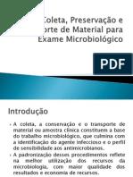 Coleta de Material Microbiológico