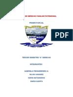 Primer Parcial Derecho Familiar p. 3333333