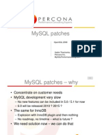 MySQL patches - OpenSQL 2008