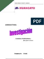 ED. A DISTANCIA - CEVATUR - INVESTIGACIÓN