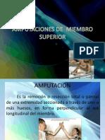 Amputaciones de Miembro Superior