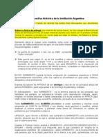 La Institucionalizacion Argentina