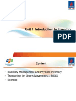 Unit 1 - Introduction to Inventory Management