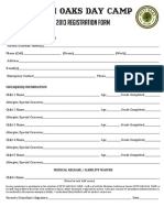 Myti Oaks Registration Form 2013