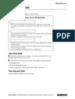 Interchange4thEd Level3 Unit05 Writing Worksheet