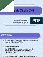 Aula 1 de Direito Civil - Pessoa Natural