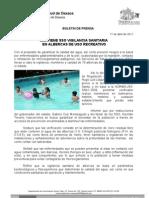17/04/11 Germán Tenorio Vasconcelos Mantiene SSO Vigilancia Sanitaria en Albercas de Uso Recreativo