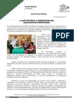 20/04/11 Germán Tenorio Vasconcelos TOMAN PROTESTA A INTEGRANTES DEL SUBCOMITÉ DE FIDEPRÓTESIS