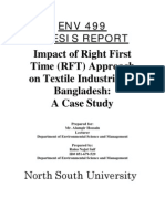 Impact of Right First Time (RFT) Approach on Textile Industries in Bangladesh
