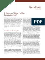 Asian Development Outlook 2009 Special Note - December 2009