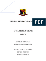 Kertas Kerja English Month 2012