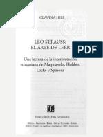 Hilb, Claudia- Leo Strauss El Arte de Leer