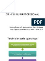 Ciri-ciri Guru Profesional