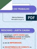 6ª AULA - DISSOLUÇÃO, AVISO PRÉVIO E ESTABILIDADE