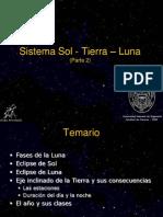 Sistema Sol, Tierra, Luna