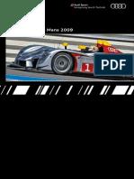 Audi Sport Prototypes Booklet (English, 2009)