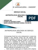 Trabalho de Antropologia Aplicada Ao Servico Social 2