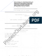 Sworn Affidavit by AZ CCP Investigator Michael Zullo Obama ID Docs Forged Provided to AL Supreme Court