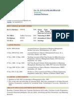 Curriculum Vitae of Dr