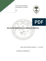 Delitos Informáticos-Prueba Informática, Informática Jurídica