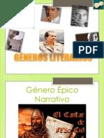3.- GENEROS LITERARIOS