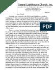 Full Gospel Lighthouse Church May 2013 Newsletter