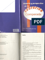 Historia y Perspectiva de La Educacion Comparada_rosa Maria