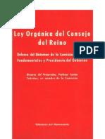 Ley Orgánica del Consejo del Reino. Defensa del Dictamen de la Comisión de Leyes Fundamentales. Discurso del Prof. Manuel Castán Tobeñas