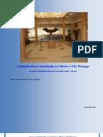 Administradores municipales en México o City Manager