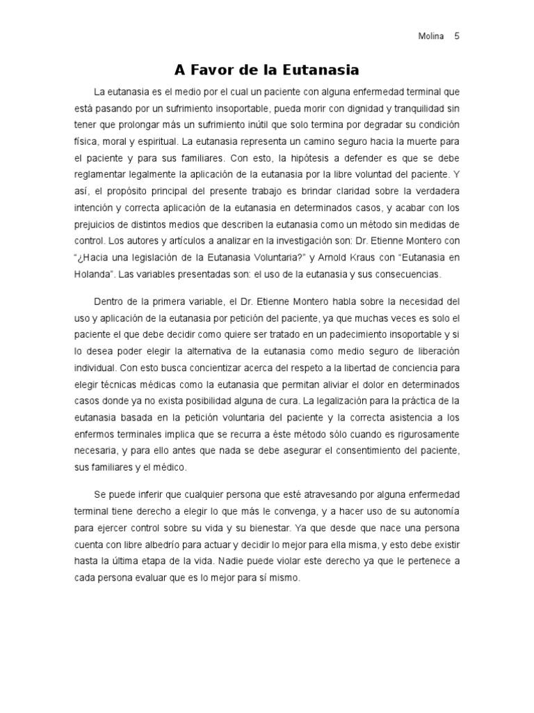 Eutanasia ensayo - Casos de eutanasia ...