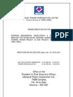 Consultancy Spec Rev 06072010 Udangudi Powerplant
