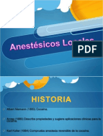 Anestésicos Locales.. Presentazione