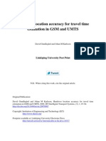 Handover Location Accuracy for Travel Time