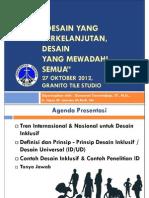 Presentasi Kuliah Desain Mewadahi Semua (AR633 Desain Inklusi UK Petra)