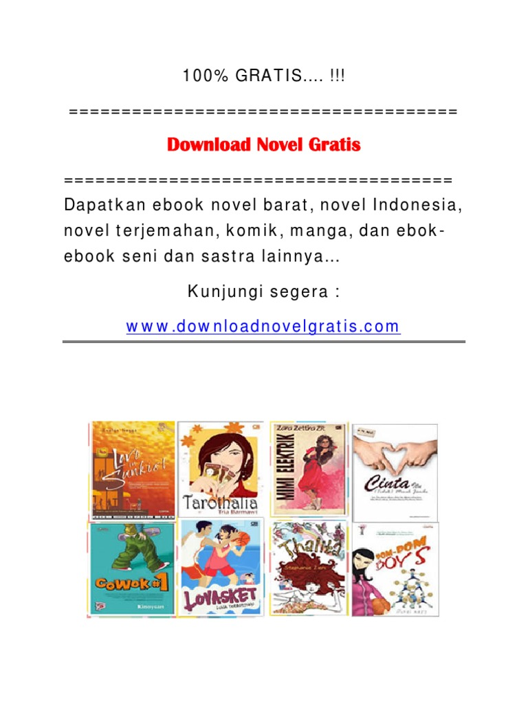 Ebook Novel Metropop Indonesia