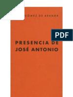 Presencia de José Antonio