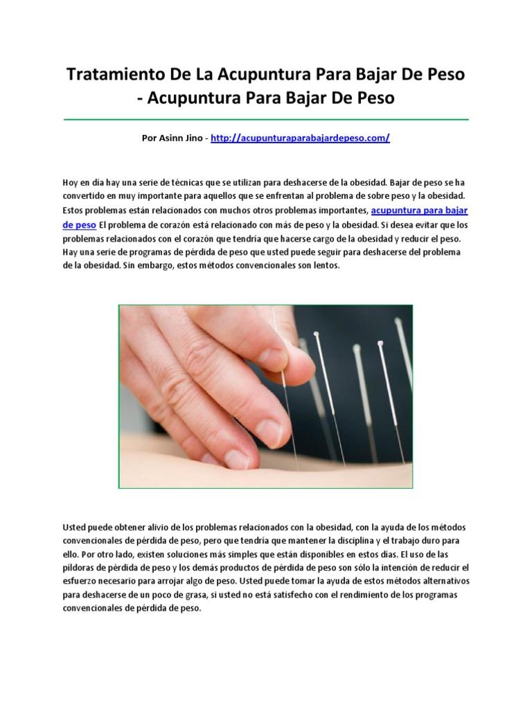 Acupuntura para bajar de peso pdf download