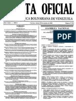 Gaceta oficial 37552 18-10-2002