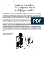 Curriculum Approach Compatible With an Inclusive Ed. Model
