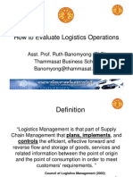 How to Evaluate Logistics Operations